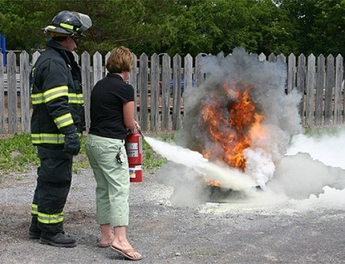Guidelines on how to use a Fire Extinguisher
